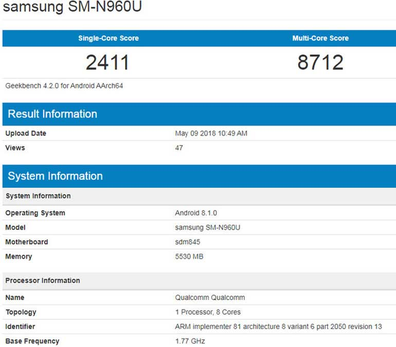 samsung-galaxy-note-9-benchmark-leaked